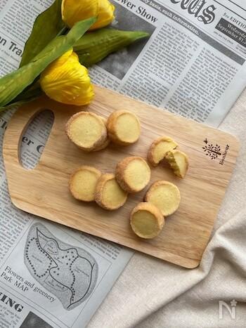 有塩バターを使った、甘じょっぱい味の塩レモンクッキー。甘いものがあまり得意ではない方でも食べやすいクッキーです。