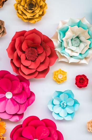 密かに人気!手作りで楽しむ素敵な「ペーパーフラワー」の作り方&飾り方