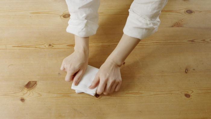 STEP③ つまさきを隠すように折る