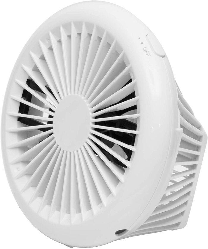 [山善] 扇風機 10cm 押しボタンスイッチ コンパクト デスクファン