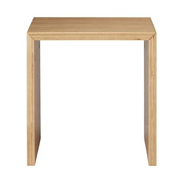 無印良品 コの字の家具・積層合板・オーク材・幅35cm 幅35×奥行30×高さ35cm 38371137
