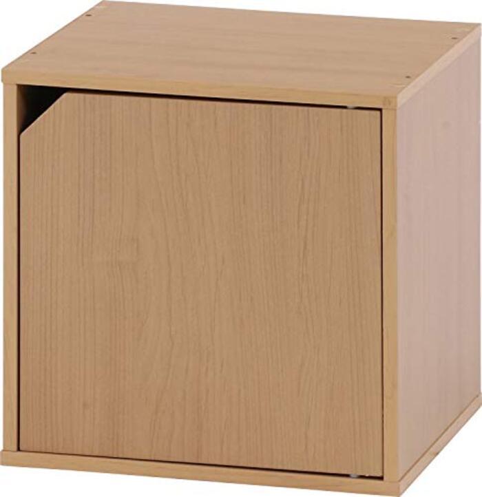 不二貿易 キューブボックス 扉付き 幅34.5cm