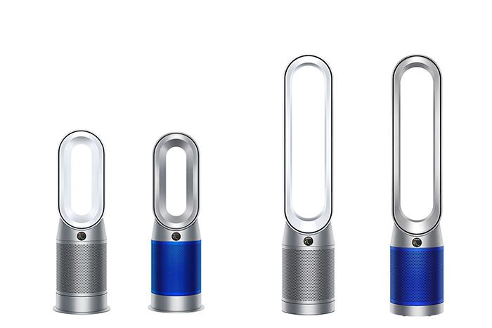 左から「Dyson Purifier Hot+Cool™空気清浄ファンヒーター」、「Dyson Purifier Cool™空気清浄ファン」