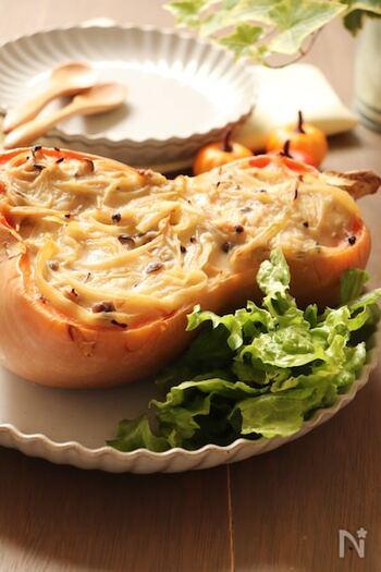 米粉と白みそを使用することで、グルテンフリーのグラタンが完成!玉ねぎやしめじなど身近な食材しか使っていないため、バターナッツかぼちゃがあればすぐにチャレンジできそうです。