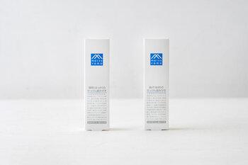 石けんや、スキンケア・ボディケアなど、毎日の暮らしに欠かせないアイテムを扱うデイリープロダクト「松山油脂」の「M-mark シリーズ:せっけん歯みがき」。和種ハッカとスペアミントの2種類の天然精油が香味成分として配合された「薄荷(画像左)」と柚子とミントの組み合わせが爽快な「柚子(画像右)」。