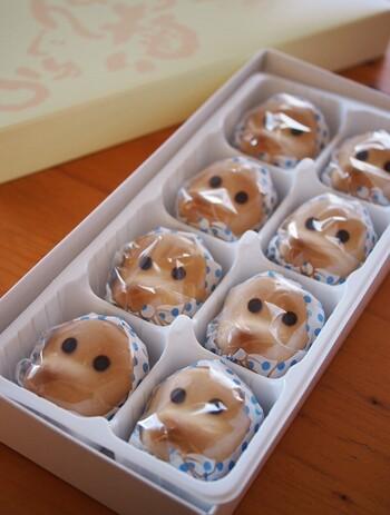 1967年に発売されて以降、山陰を代表するお菓子の1つとなっているどじょう掬いまんじゅう。親しみを感じるひょっとっこをモチーフにしたお饅頭で、白餡ベースの基本の他にも島根県の名産品とコラボしているため、松江の老舗茶屋「千茶荘」の抹茶やイチゴ味、栗味なども販売されています。