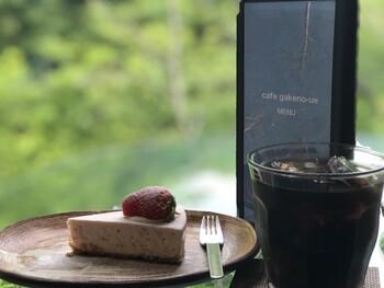 人気メニューは手作りケーキとコーヒーのセット。特にケーキは「テイクアウトしたい!」というお客さんもいるほど評判の味です。絶景とおいしいスイーツの組み合わせに、心もお腹も満たされそうですね。