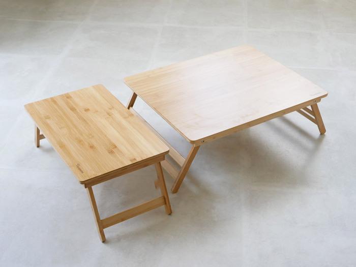 装飾の少なくシンプルな竹素材のローテーブル。つるっとした滑らかな肌触りは竹素材ならでは。折りたたみができるので持ち運びも便利♪どんなお部屋にも馴染む竹素材のテーブルは様々なシーンでの活躍が期待できます。優しい風合いでくつろぎスペースのお供にもぴったりですね。