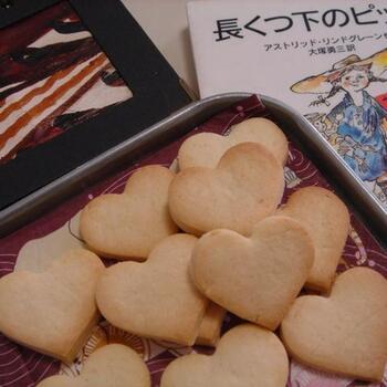 生姜の香りがふわっと広がる、ハートのジンジャークッキーです。まさにピッピの焼いていたレシピ。ピッピに負けないくらい、たくさん食べたいですね。