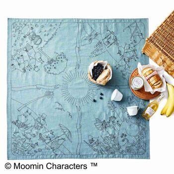 お日さまを中心に、ムーミン谷の春夏秋冬を描いたキュートなデザイン。印刷済みの図案、縫製済みの布、刺し子糸、説明書があらかじめセットになっているから、届いたらハリさえあればすぐに作れます。