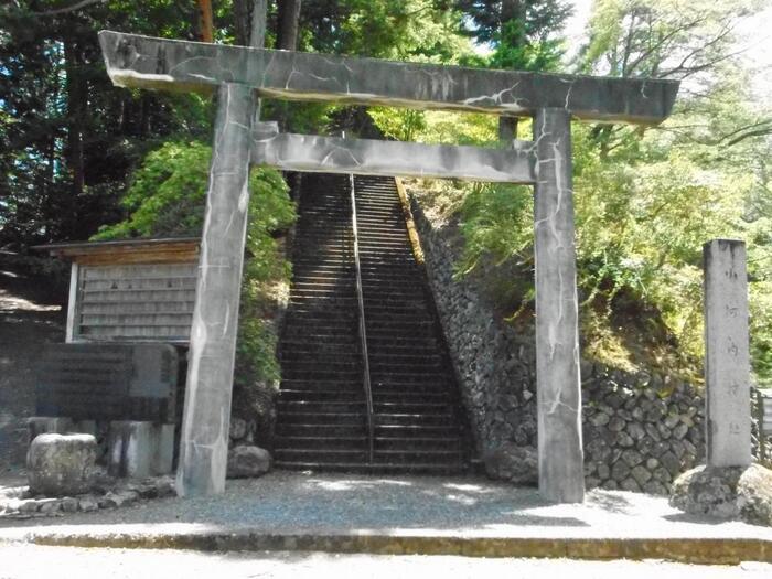 小河内ダムを建設するときに水没した、旧小河内村に祀られていた九社十一祭神を移して創建されたのが「小河内神社」です。現在でも小河内地区の鎮守神として祀られています。