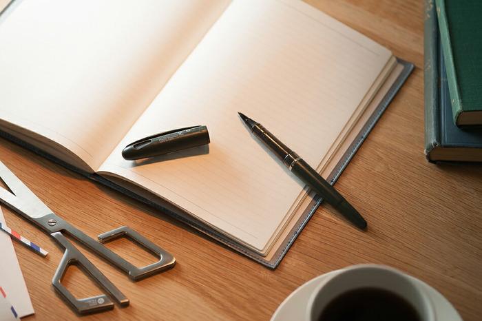 万年筆とボールペンの長所を持ち合わせたペン。一度使ったら手放せなくなる滑らかな書き心地が魅力です。ペンの角度や力加減によって文字の表情が変わり、味わい深い仕上がりに。シンプルながらスタイリッシュなデザインは、男性へのプレゼントに最適です。「万年筆だと文字を書くのが難しそう」という人でも気軽に使えます。  価格:550円