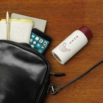 ウォーキングやランニング、通勤・通学にも便利な手のひらサイズで、ビジネスバッグや小さいサコッシュにも入ります。