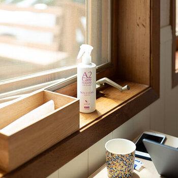 除菌消臭剤でお馴染みの「A2care(エーツーケア)」の肌に使えるスプレー。断水などで体を洗えない時や匂いが気になる時にシュッと吹き掛ければ、簡易的な洗浄ができます。約3年の消費期限のため、日常使いしつつ防災セットにもストックを入れておきましょう。