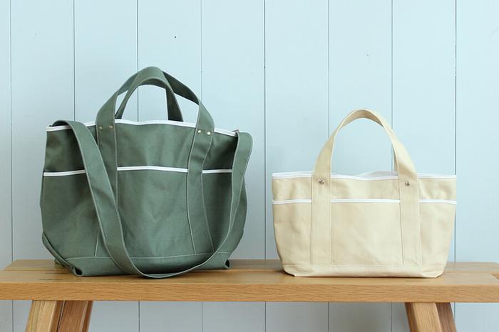 お裁縫ができるなら、思い切ってピクニックバッグを手作りするのも素敵です。帆布で作ったバッグは、丈夫でアウトドアでも安心して使えます。お気に入りの生地を探して挑戦してみましょう♪