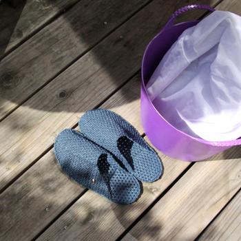 お家での足元を清潔に*素足が喜ぶ『洗えるルームサンダル』のすすめ