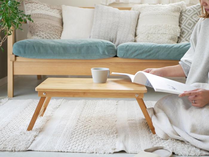 場所を選ばず使える「折りたたみミニテーブル」特集