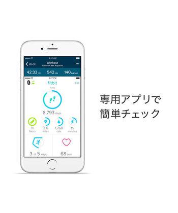 画像/「Fitbit(フィットビット)」の専用スマホアプリの画面